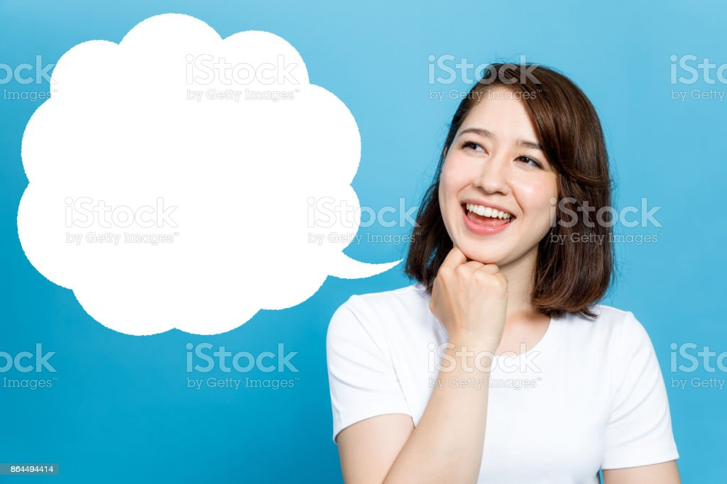 young woman and a balloon. stock photo