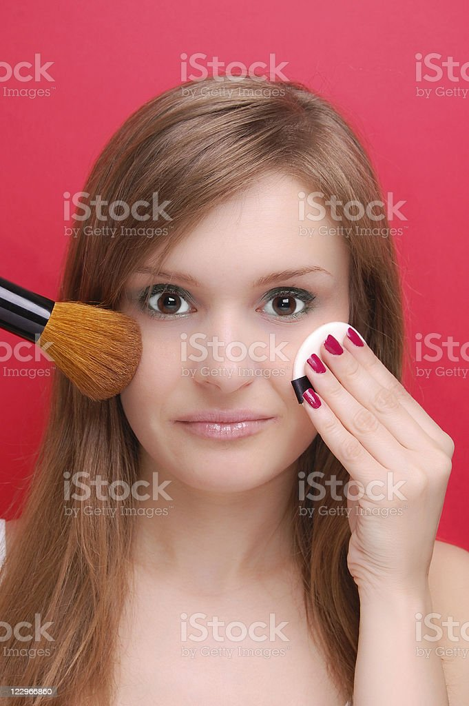 young woman and make-up royalty-free stock photo