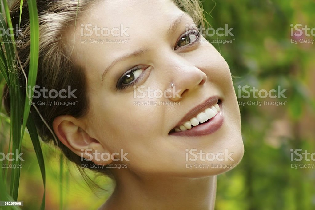 Young woman  and nature royalty-free stock photo