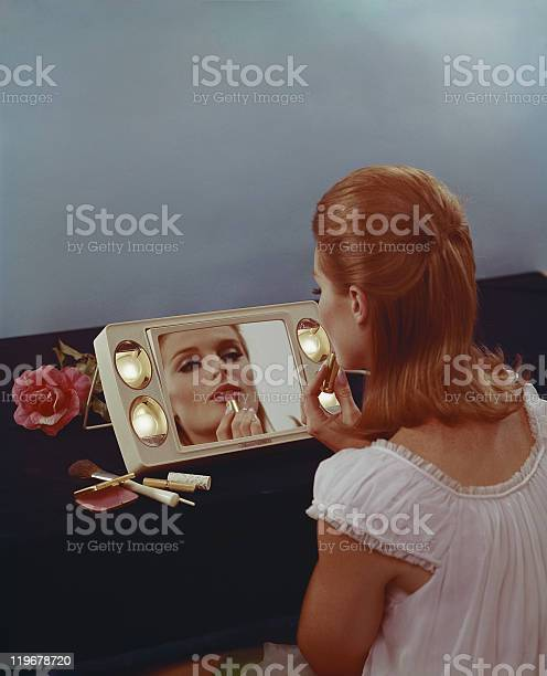 Young woman applying lipstick picture id119678720?b=1&k=6&m=119678720&s=612x612&h=pyakx0iq9lhycvgokynahlves0vb8bq3pwadcyssy74=
