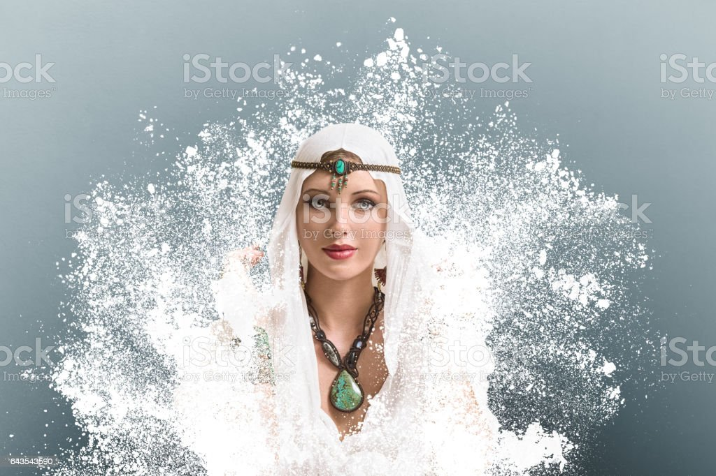 Young woman arabic style fashion look stock photo