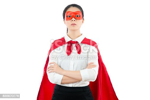 istock young woman arms crossed wearing shirt 835620276