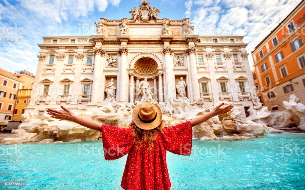 Teen girls in Rome