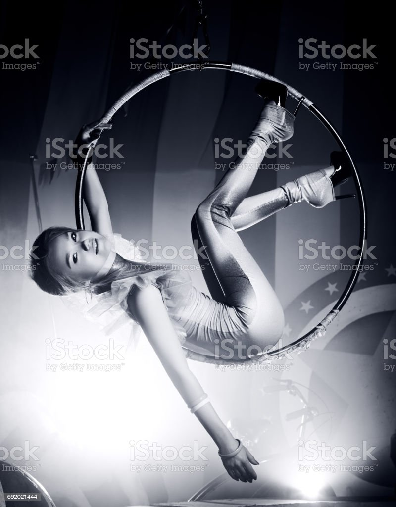Young woman artist stock photo