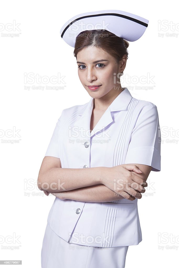 Young woman asian nurse royalty-free stock photo