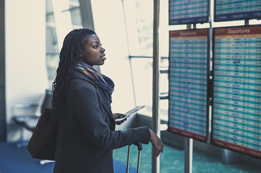 Young Woman At Airport Stock Photo - Download Image Now