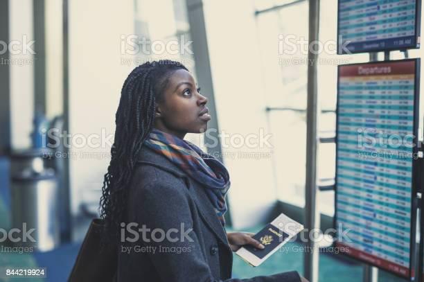 Young woman at airport picture id844219924?b=1&k=6&m=844219924&s=612x612&h=dh6ilalxzbenjgefpfdwofijjjdwt9eualyxly04vqi=