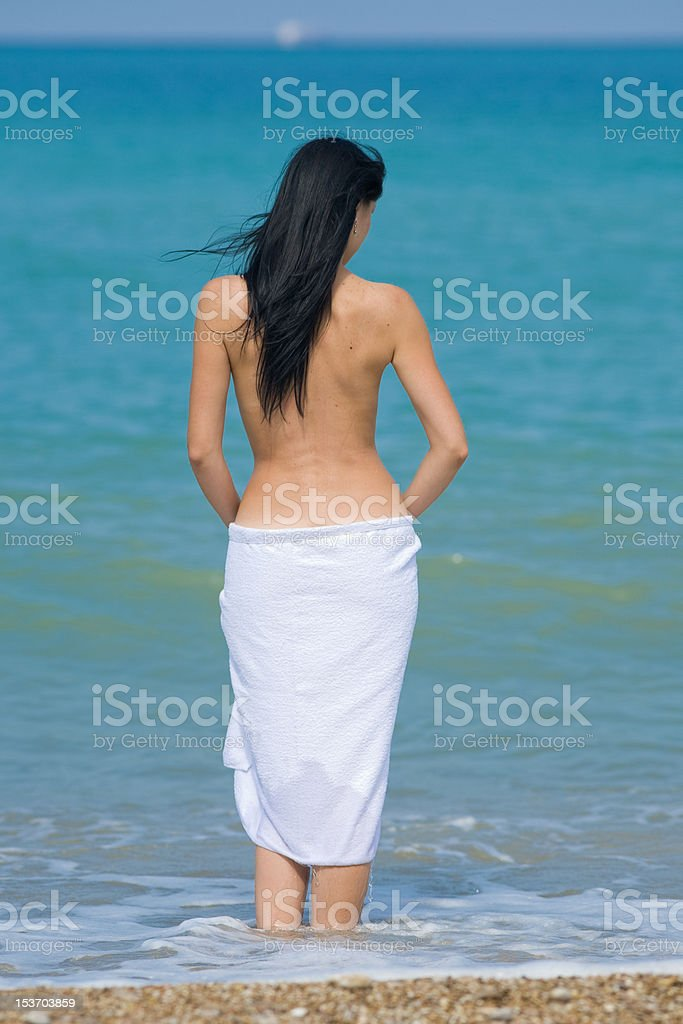 Young Woman At The Sea Stock Photo - Download Image Now - iStock