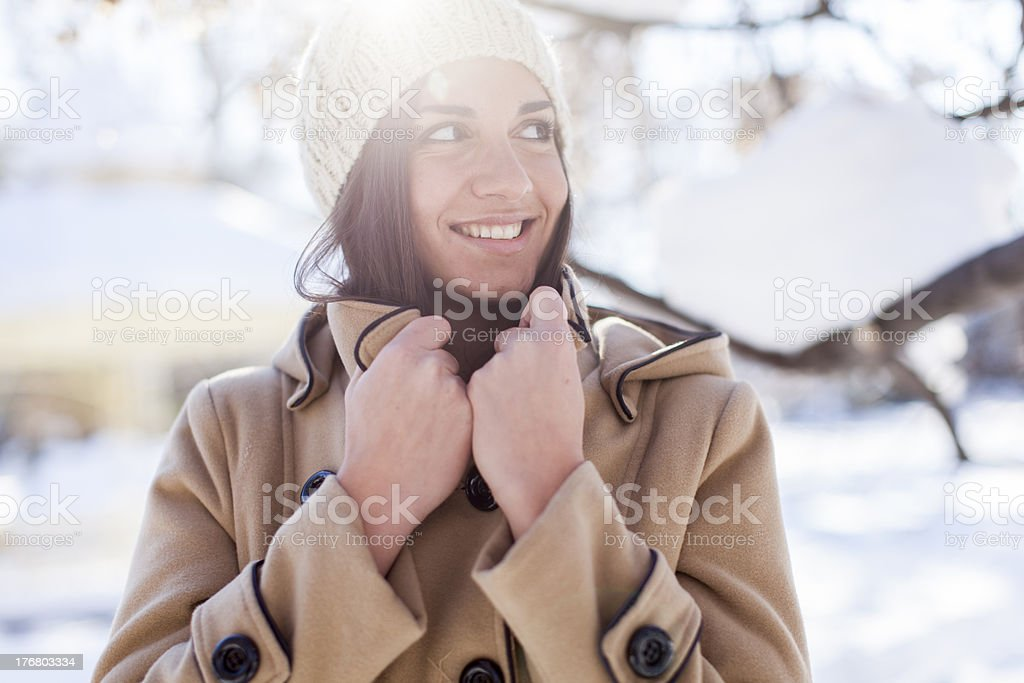 Young woman at winter royalty-free stock photo
