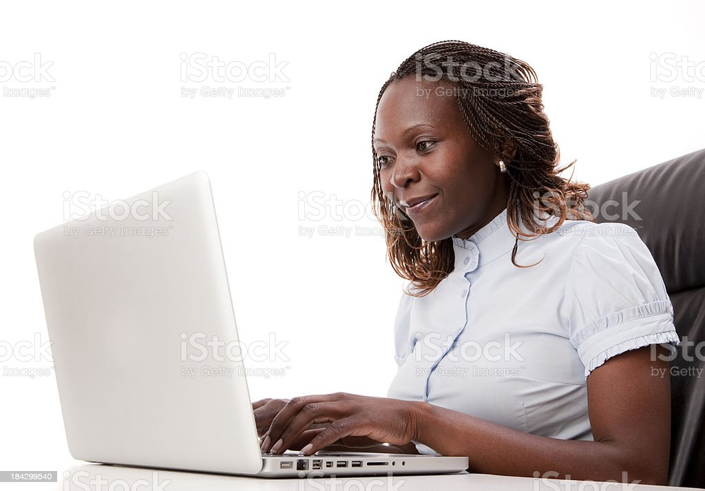 Young Woman at Work royalty-free stock photo