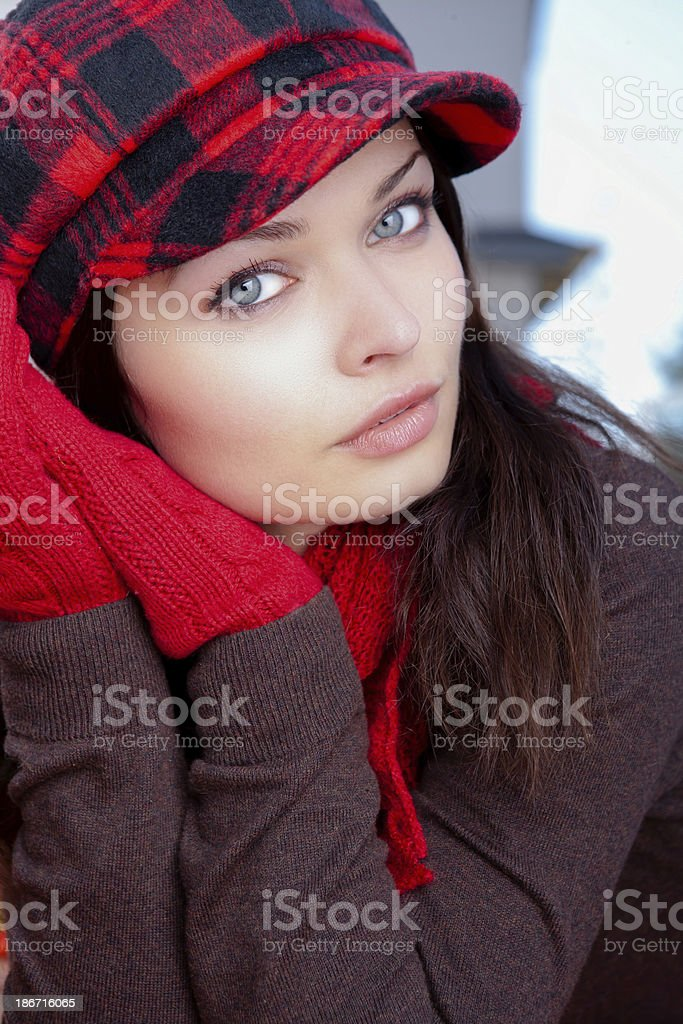 Young woman autumn portrait royalty-free stock photo