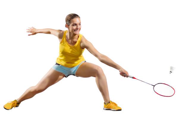 Joueur de badminton de jeune femme - Photo