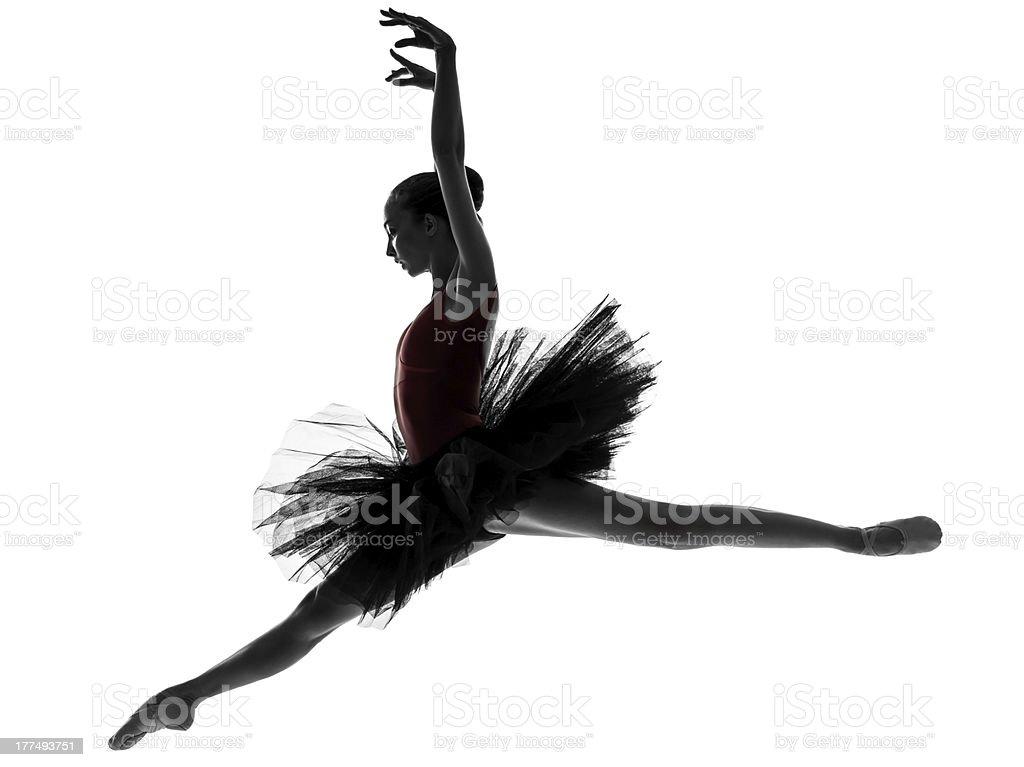 young woman ballerina ballet dancer dancing stock photo
