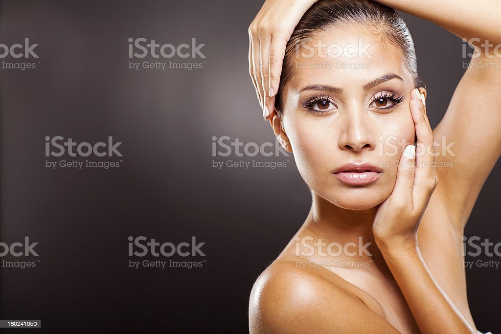 young woman beauty portrait royalty-free stock photo