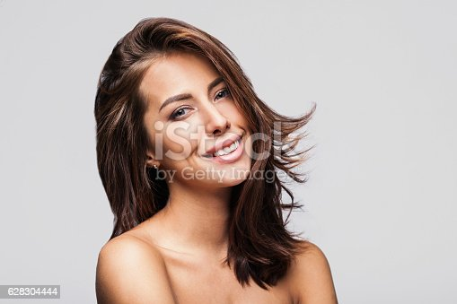 istock Young woman beauty portrait 628304444