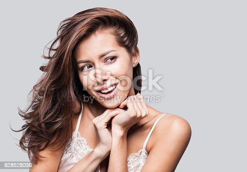 istock Young woman beauty portrait 628528036