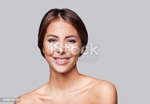 istock Young woman beauty portrait 638678168