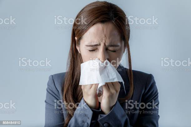 Young woman blowing her nose allergic rhinitis hay fever picture id858484910?b=1&k=6&m=858484910&s=612x612&h=z2ejzygiuyh4njpe9caixeumt8pvver2nnn5 al20da=