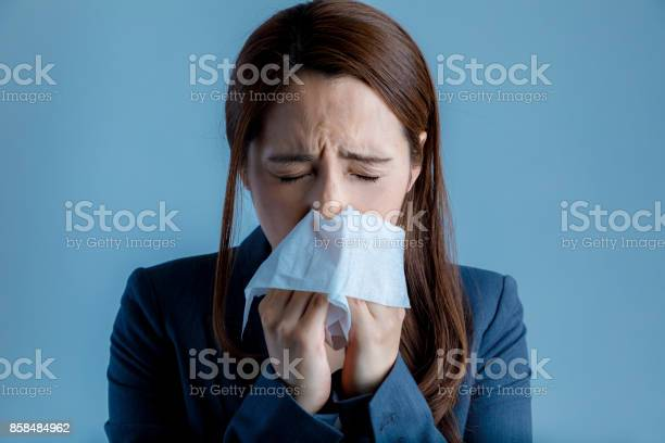 Young woman blowing her nose allergic rhinitis hay fever picture id858484962?b=1&k=6&m=858484962&s=612x612&h=5y5qlyn0thmvjipruc6b1wr0ylrxrcwiuhazkhnmcqc=