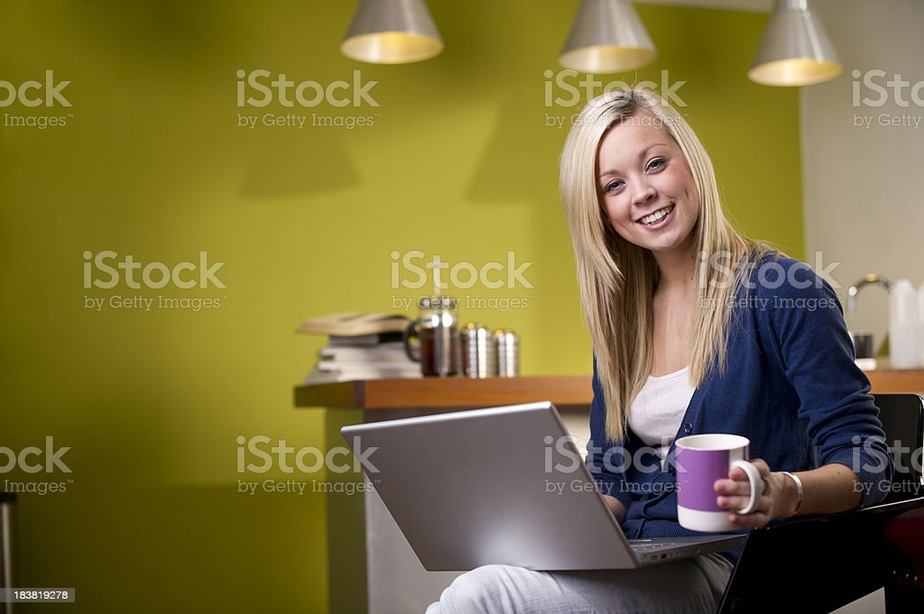 Young woman browsing the internet royalty-free stock photo