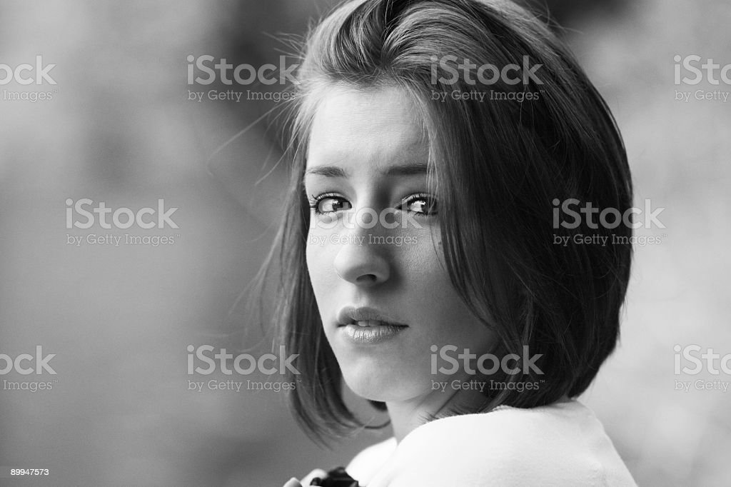Young Woman Caught Off Guard. royalty-free stock photo