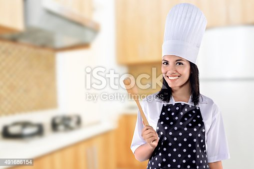 istock Young Woman Chef 491686154