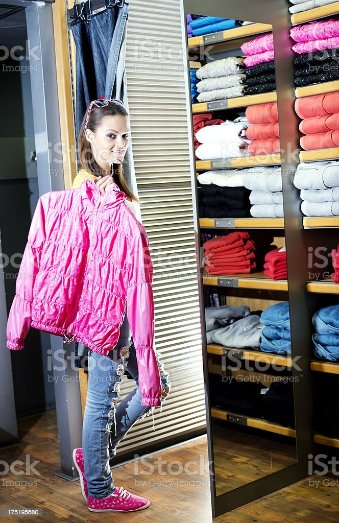 Young Woman choosing clothes royalty-free stock photo