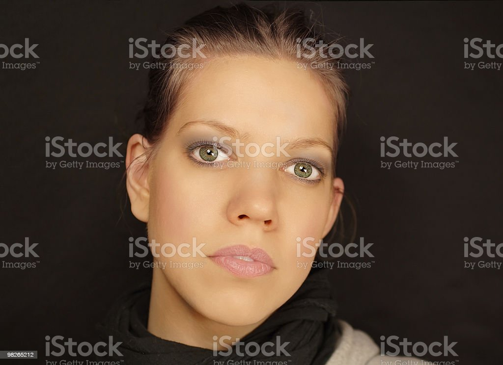 Young woman close-up face royalty-free stock photo