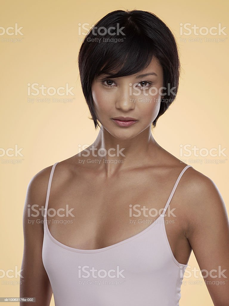 Young woman, close-up, portrait foto de stock libre de derechos