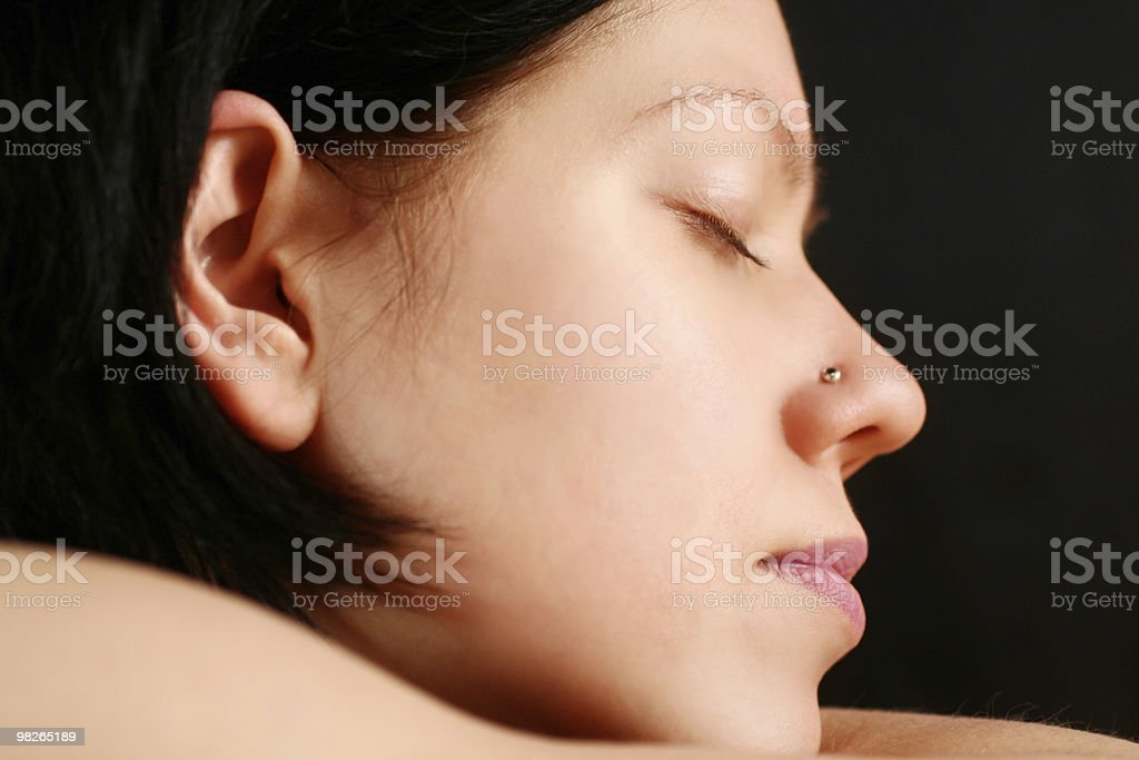 Young woman close-up,sleeping royalty-free stock photo