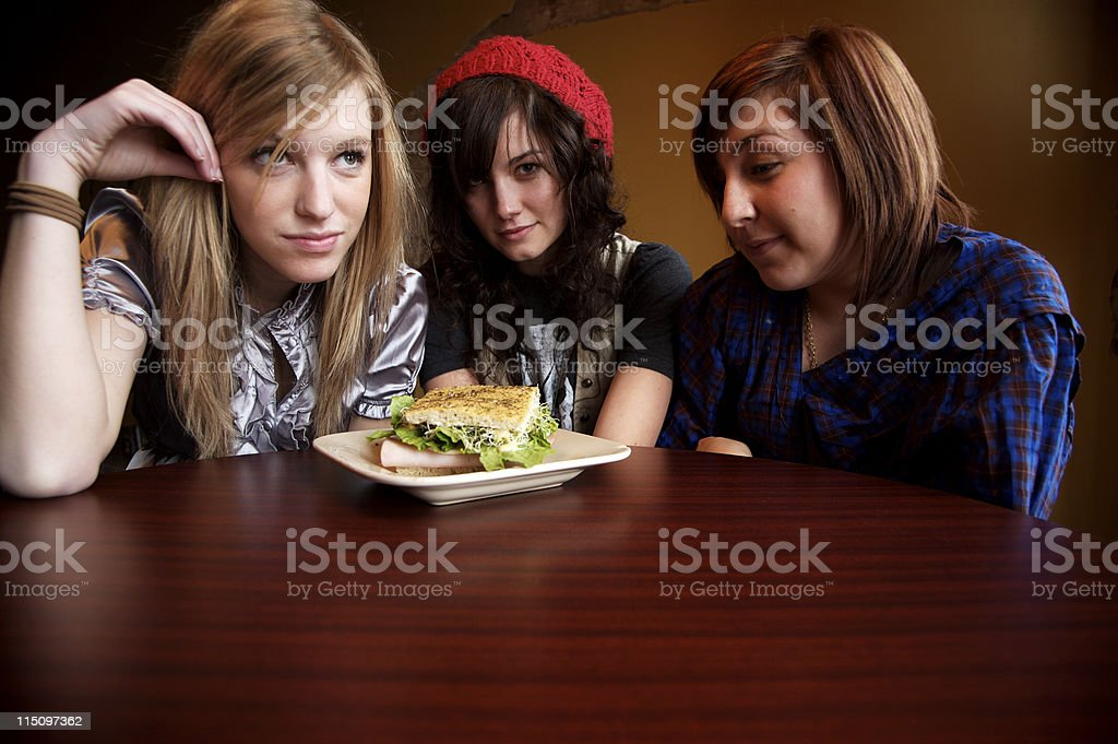 young woman coffee shop portraits royalty-free stock photo