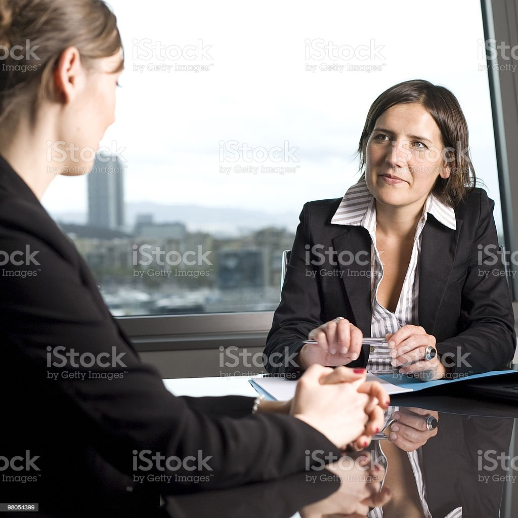 Young woman coming to a job interview royalty-free stock photo