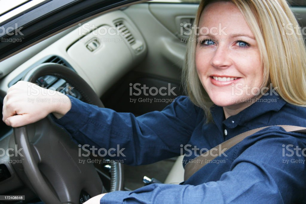 A young woman commuting to work royalty-free stock photo