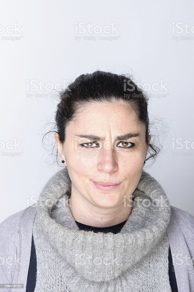 young woman contemplates something royalty-free stock photo