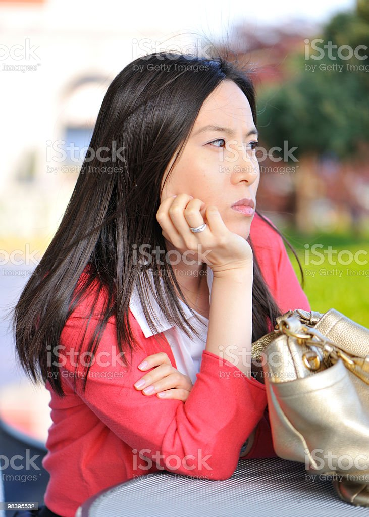Young woman, Copy Space royalty-free stock photo