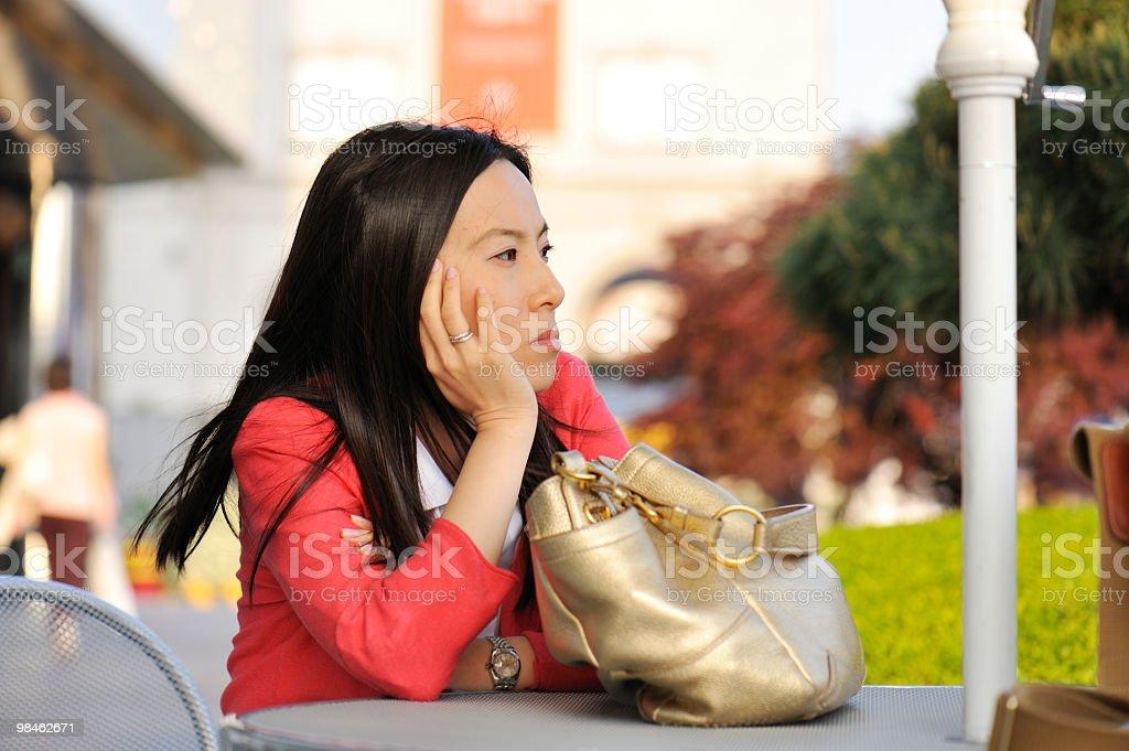 Giovane donna, spazio di copia foto stock royalty-free