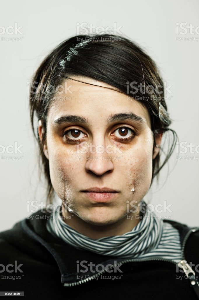 Young woman crying royalty-free stock photo