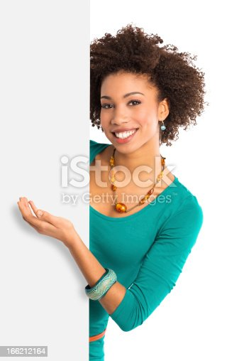 166407266istockphoto Young Woman Displaying Placard 166212164