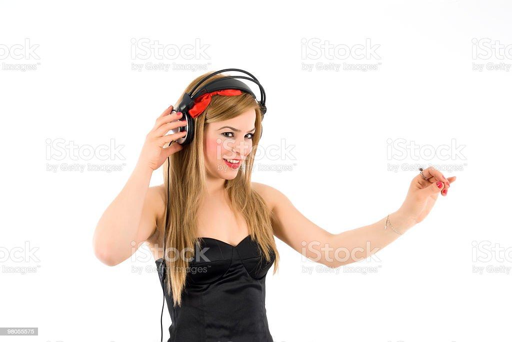 Ragazza DJ foto stock royalty-free