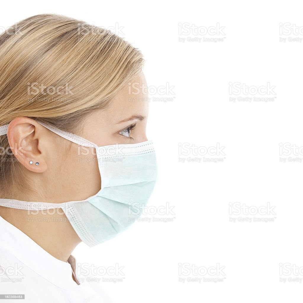 Young woman doctor with mask stock photo
