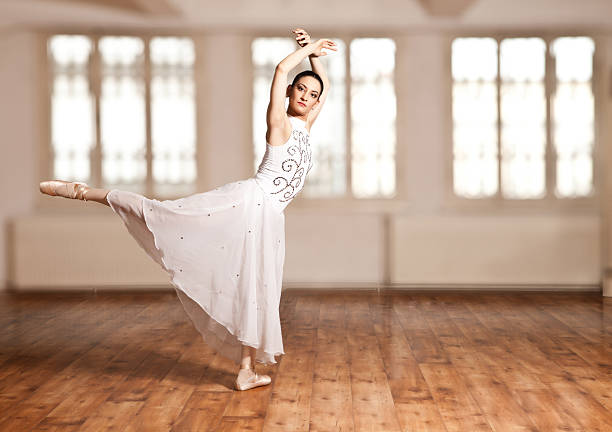 Young woman doing ballet stock photo