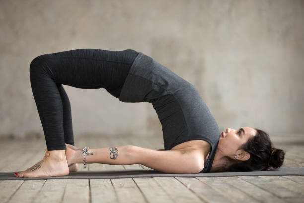 1,739 Bridge Pose Yoga Stock Photos, Pictures & Royalty-Free Images - iStock