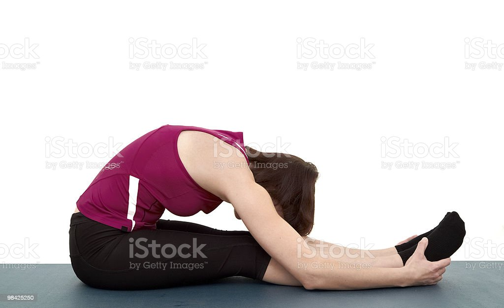 Young woman doing exercises royalty-free stock photo