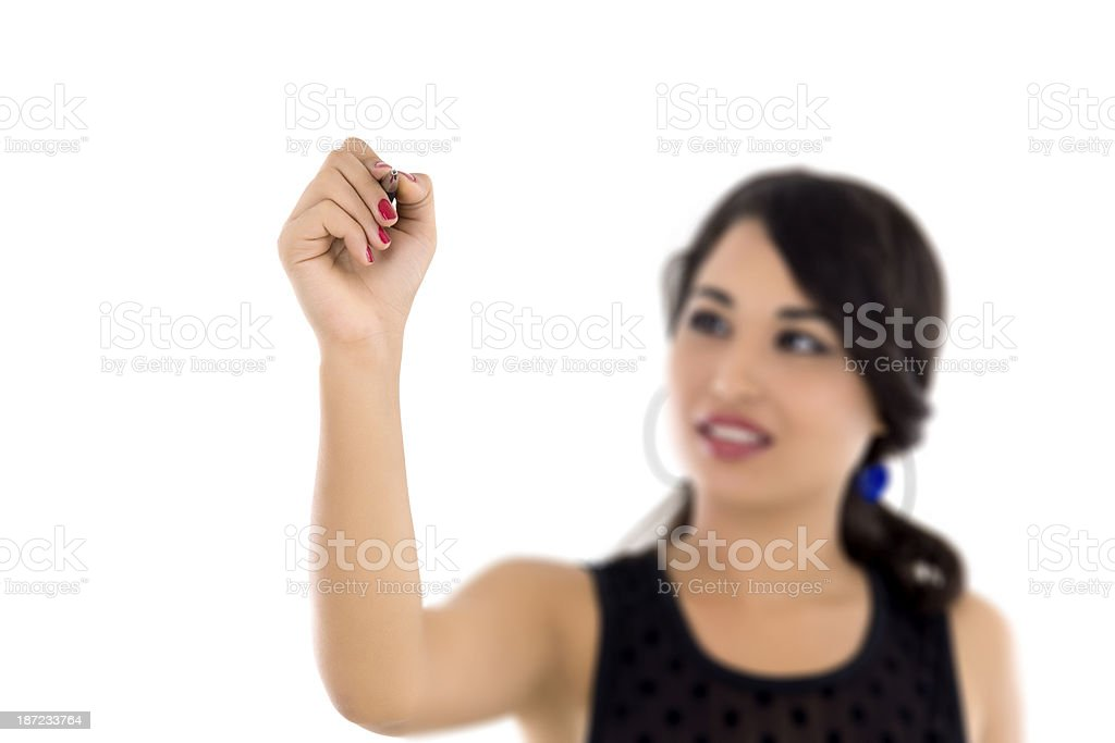 young woman drawing royalty-free stock photo