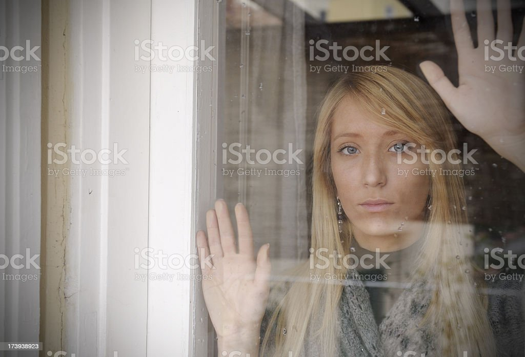Young Woman Dreaming royalty-free stock photo