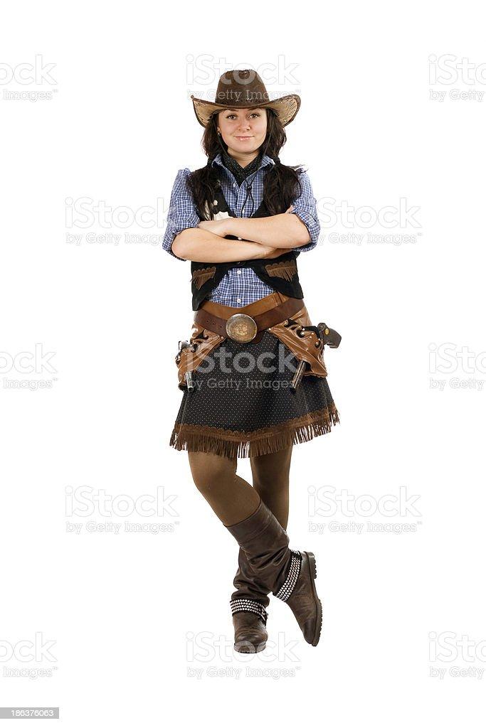 6686fc540d70a Fotografía de Mujer Joven Vestido Como Cowboy y más banco de ...