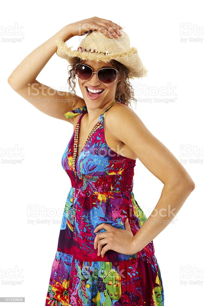 Young Woman Dressed for the Summer - Isolated royalty-free stock photo