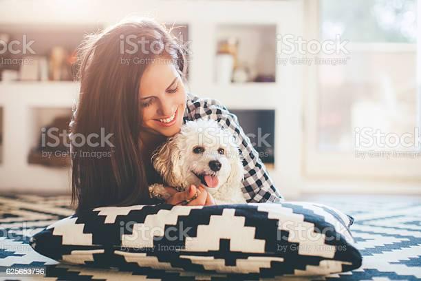 Young woman embracing her dog picture id625653796?b=1&k=6&m=625653796&s=612x612&h=b8krrbtmwmpm7rslvcyggq6njxvrv55v3zqxxvwyyiu=