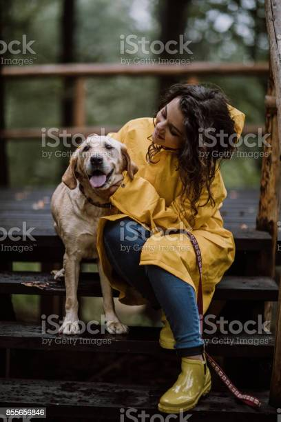 Young woman enjoying rainy day with her dog picture id855656846?b=1&k=6&m=855656846&s=612x612&h=hwmwjmhiezvmnbi6x1x2u 1n6haff7hbngssp4paob0=