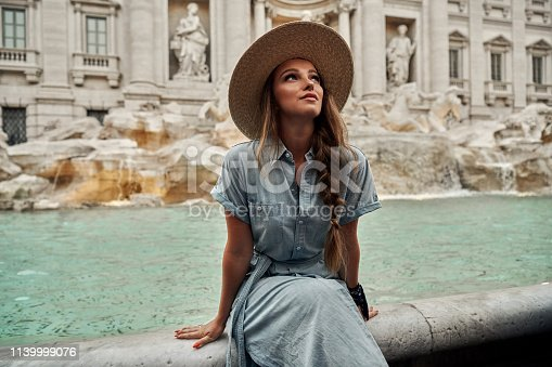Shoot of young woman enjoying Rome